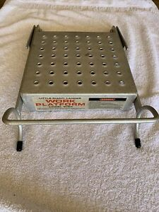 Little Giant Ladder Systems Work Platform #10104 Supports 375 Lbs People/ More