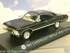 Supernatural Diecast Model 1/43 1967 CHEVROLET Impala Sedan 4-door Greenlight