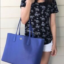 Tory Burch Perry Brody  Tote inMarlin with Silver interior