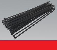 NEW 40 x nylon plastic Black Cable zip ties, 4.8mm wide, x 250mm long.UK