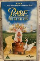 Babe - Pig In The City VHS Video Tape Childrens Classic Film Movie TBLO