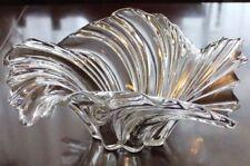 "Mikasa Belle Epoque ~14"" large centerpiece bowl: clear crystal swirled splash"