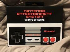 Nintendo Entertainment System 12 Days of Socks Advent Calendar Mario Switch NIB