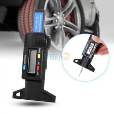 0-25.4mm Digital Car Tyre Tread Depth Gauge Tester Meter Measurer Tool Black LJ