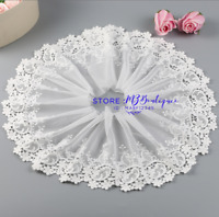 Floral Tulle Lace Trim Ribbon Fabric Tulle Mesh Embroidery Wedding Sewing FP256