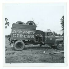 Clyde Beatty Circus - Truck - Original Vintage Snap Shot Glossy Photograph