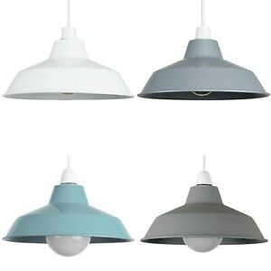 Modern Metal Pendant Shades Ceiling Light Retro Style Lounge Lighting Lampshade