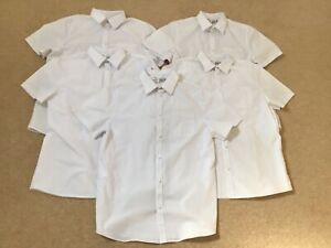 Marks And Spencer Boys White Skin Kind School Shirts x 5 Size 15-16 Years