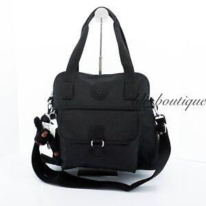 NWT Kipling HB6297 Pahneiro Crossbody Shoulder Bag Purse Polyamide Black Tonal
