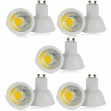 SET OF 5 GU10 COB 6W LED SPOT LIGHT BULBS WHITE SPOTLIGHT CEILING LAMP DOWNLIGHT