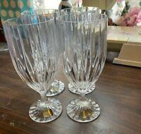 Mikasa Park Lane Crystal Iced Tea Glass Clear Stemware Contemporary Set of 4