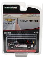 GreenLight 1:64 2015 Chevy Silverado in Black with Safety Equipment in Truck Bed