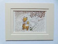 WINNIE THE POOH CHILDRENS DATED 1976  in 6x8in DOUBLE MOUNT READY TO FRAME