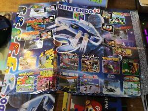 Nintendo 64 & GameBoy Original Fold-Out Promotional Poster reversible N64 snes