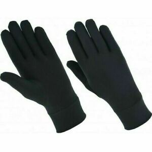 Natural Silk Unisex Inner Gloves – Black Inner Gloves – Double Knit Skin Care Gl