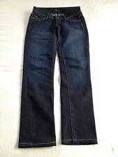 Fidelity Women's Scoop Stiletto Skinny Crop Dark Blue Jeans Size 24 Inseam 28