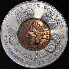 1901 Lucky Penny Token FREE SHIPPING E407 WCL