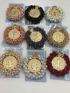 "Medalla De San Benito Abad 2"" Decorada  - Beautiful Saint Benedict Medal"