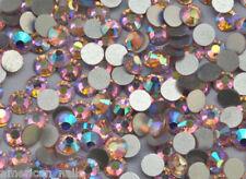 100 STRASS RONDS Cristal Haute Qualité Bijou ongle Nail Art Lght Rose AB 2mm