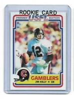 1984 Topps USFL # 36 JIM KELLY ROOKIE RC REPRINT Houston Gamblers $ Look !
