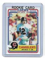 1984 Topps USFL # 36 JIM KELLY ROOKIE RC REPRINT Houston Gamblers $ Look !