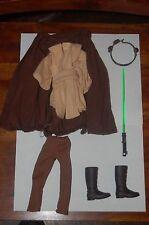 "Qui Gon Jinn Jedi 12"" Outfit-Hasbro-Star Wars 1/6 Scale Custom Side Show"