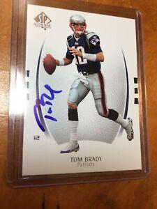 🔥2007 SP Authentic Tom Brady N. E.  Patriots Autograph Card w/ COA (GOAT)🔥