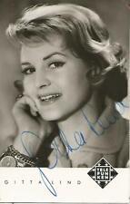 GITTA LIND, Film & TV, autogrammkarte signiert