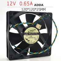 202020For 1pc ADDA AD0712UX-A7BGL fan 7025 7CM 12V 0.30A PWM 4pin