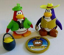 Disney Club Penguin Cowboy & Lucky Leprechaun Figures