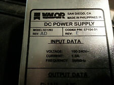 Valor DC Power Supply SC1283 Codex 57154-01 REV E REV AD