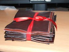 40 Pack of mixed brown leather pieces  14cm x 13cm for crafts etc