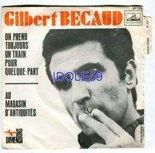 Disques vinyles singles pour chanson française, train