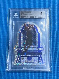 2019 Crown Royale Zion Williamson LeBron James Blue Air to the Throne #/75 BGS 9