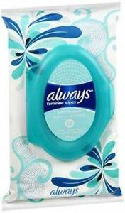 Always Fresh & Clean Feminine Wipes - 32 Count, Pack of 3