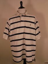 Polo by Ralph Lauren Mens White & Blue Striped Polo Shirt Size 3XLT Tall Cotton