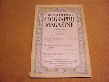 National Geographic August 1920 Antioch US State Names Channel Islands Ads