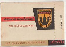 Publicité Prospectus Milchkocher VEB Blechenwarenfabrik Rothemark Wittenberg
