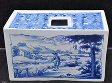 Sleepy Hollow Oud Delft Blue & White Reproduction 18th Century Flower Brick