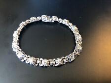 14k White Gold And Diamond Bracelet 17.4g Grams Total