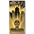 Metropolis German Vintage Film Movie Silk Poster 13x27 inch