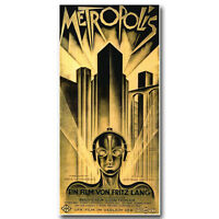 Metropolis German Vintage Film Movie Silk Poster 13x27 inch