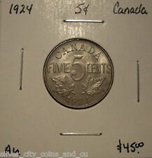 Canada George V 1924 Five Cents -  AU