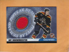JAY BOUWMEESTER 2003 04 TOPPS PRISTINE POPULAR DEMAND JERSEY # PD-JB PANTHERS