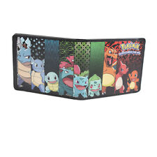 Pokemon Original Starters Evolution Black Bifold Wallet NEW