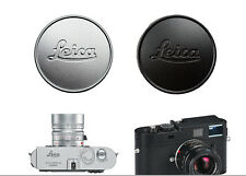 Metal Black & Silver (2pcs) Leica L39 39mm Front Lens Cap for Summicron-M 50/2.0