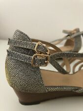 Oasis women's glittery silver sandals Size 5 Brand New