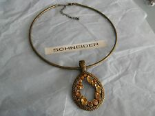 Premier Designs EMBELLISHED brass glass crystal necklace RV $49 free ship