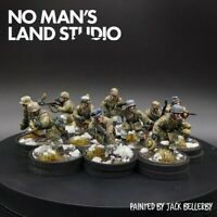 Pro Painted 28mm Bolt Action german winter Fallschirmjager squad ×10 ww2