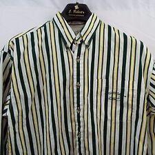Green Bay Packers Men's M QBC Quarter Back Club Button Down Collar Shirt